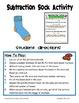 Subtraction Sock Activity