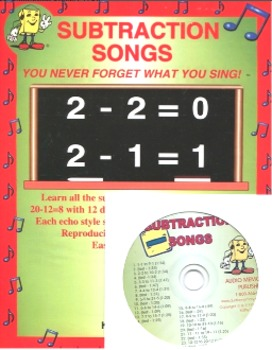 """""""Subtraction Songs"""" CD Kit by Kathy Troxel (CD and reproducible book)"""