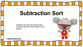 Subtraction Sort