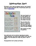 Subtraction Sort Activity
