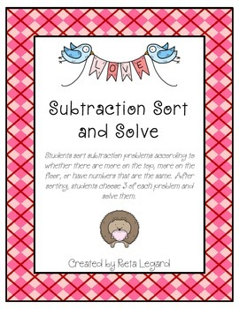 Subtraction Sort and Solve