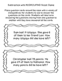 Subtraction Sorts and Games
