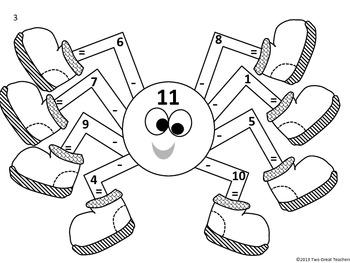 Subtraction Spiders