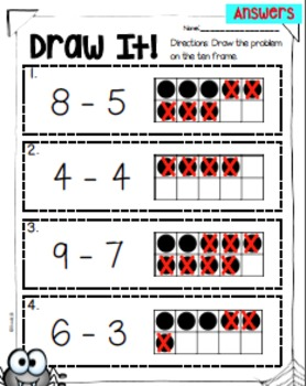 Subtraction Web of Math Game