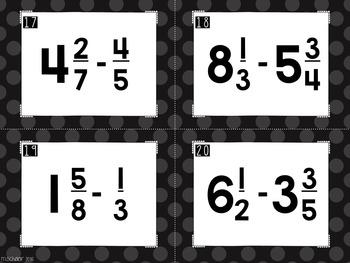 Subtracting Spies - Subtracting Mixed Numbers