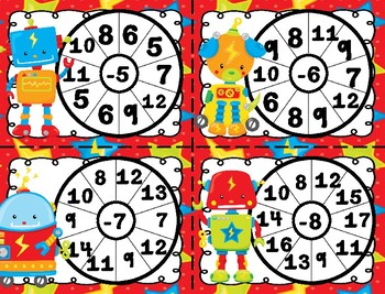 Subtraction Spinner Center Activity