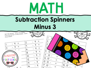 Subtraction Spinners Minus 3