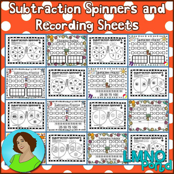 Subtraction Spinners and Recording Sheets