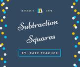 Subtraction Squares 1s