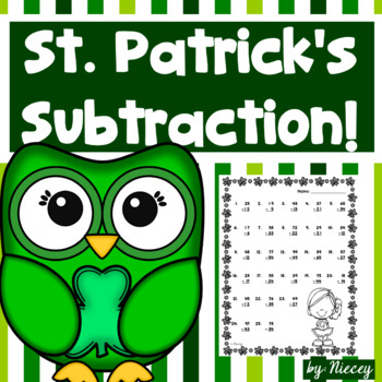 Double Digit Subtraction Worksheets ~ St. Patrick's Day