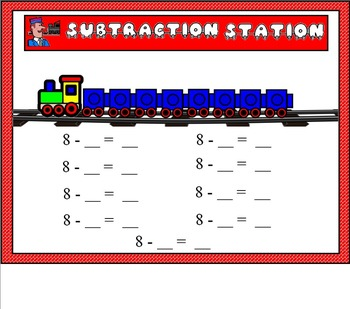 Subtraction Station for Smart Board