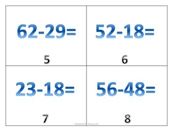Guided Math Subtraction Stations