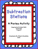 Subtraction Stations:  A Third Grade Review
