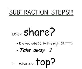 Subtraction Steps