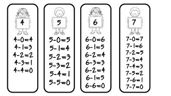 Subtraction Sticks 1 to 10