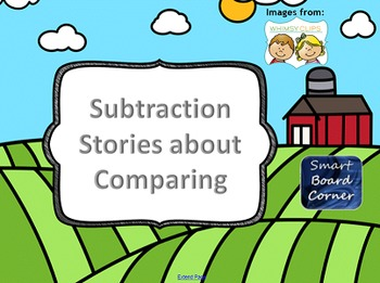 Subtraction Stories about Comparing on the Farm SMART Boar