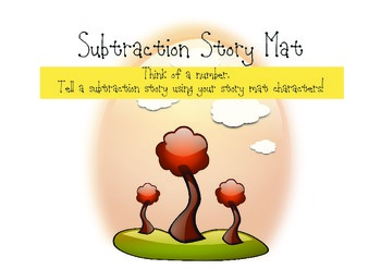 Subtraction Story Mats Math Workstation (Fall Theme)