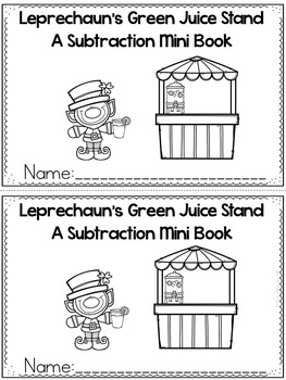 Subtraction Story Mini Books (Leprechaun/St. Patrick's Day Edition)