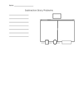 Subtraction Story Problem Graphic Organizer