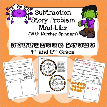 Halloween Subtraction Story Problem Mad Libs