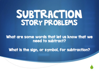 Subtraction Story Problems
