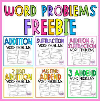 Subtraction Story Problems Within 20 FREEBIE!