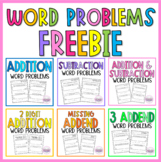 Addition and Subtraction Word Problems | 1st Grade Word Problems FREEBIE