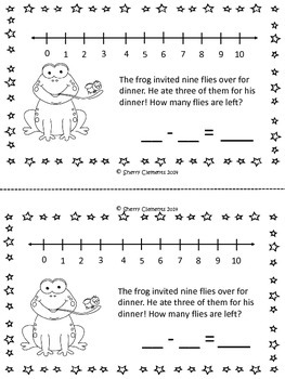 May Subtraction Story Problems Book
