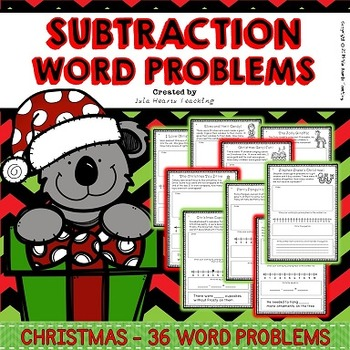 Christmas Word Problems (Subtraction Word Problems - Diffe