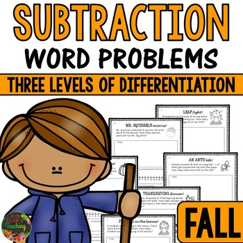 Fall Word Problems (Subtraction Word Problems)