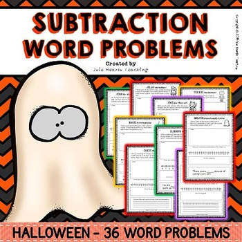 Halloween Word Problems (Subtraction Word Problems - Diffe
