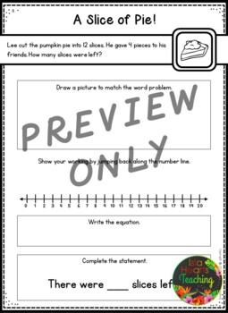 First Grade Subtraction Word Problems (First Grade Differentiated - 3 Levels)