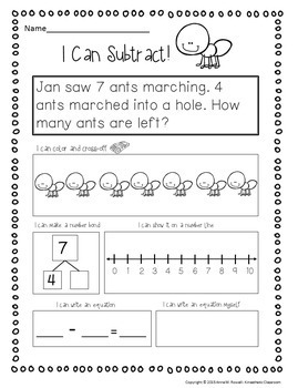 Subtraction Worksheets: Story Problems & Cross-Offs