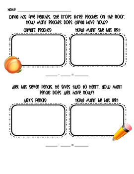 Subtraction Story Problems Packet