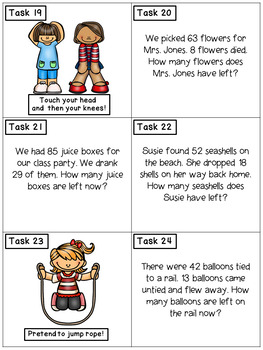Subtraction Story Problems With Regrouping: Math Task Cards - Exercise Scoot!