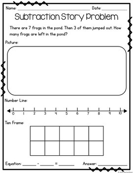 Subtraction Story Problems Within 20