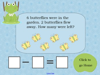 Subtraction Story Problems about Separating SMART Board Lesson Koosh ball game