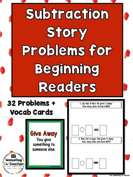 Subtraction Story Problems for Beginning Readers (Numbers 1-10)