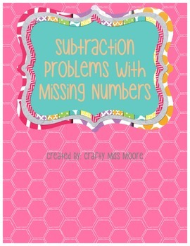 Subtraction Story Problems with Missing Numbers