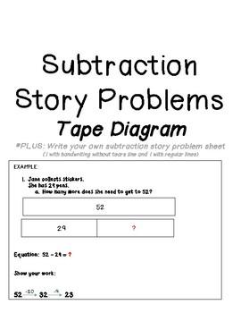 Tape Diagram Worksheet Subtraction Teachers Pay Teachers