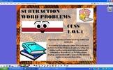 Subtraction Story Word Problems - CCSS 1.OA.1 - ActivInspire Flipchart