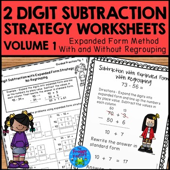 Subtraction Strategies Worksheets - Two Digit Expanded Form