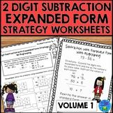 2 Digit Subtraction Strategies Worksheets - Expanded Form Method Volume 1
