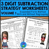 Subtraction Strategies Worksheets - 3 Digit Expanded Form