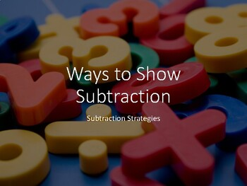Subtraction Strategies Anchor Charts