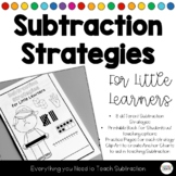 Subtraction Strategies Book Practice Pages for each Subtra