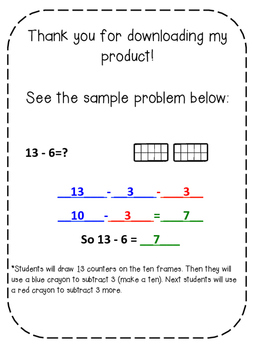 Subtraction Strategies: Breaking Numbers Apart to Subtract
