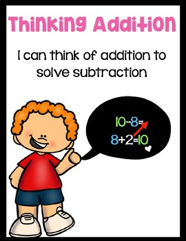 Subtraction Strategies Classroom Posters