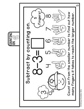 Subtraction Strategies Tab Book