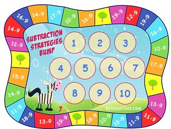 Subtraction Game - a Fun Game for Students - Learn Subtraction Facts with Zebras